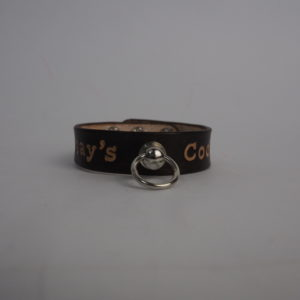 leather cock ring with metal snap buttons, shop no limit 1