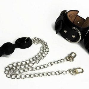 Leather Hancuffs with Anal Plug, Sex Toys Shop NoLimit